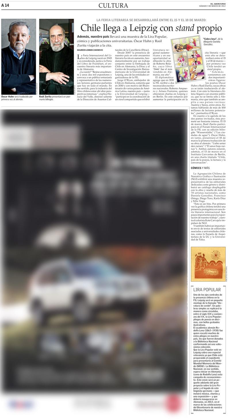 Nota para Diario El Mercurio